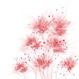 Fundo do vetor com flores Imagens de Stock Royalty Free