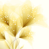 Fundo do vetor com flores amarelas Fotos de Stock Royalty Free