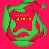 Fundo do vetor com formas portuguesas do corte do papel das cores da bandeira ilustração do vetor