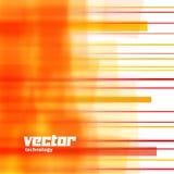 Fundo do vetor com linhas borradas laranja Imagens de Stock Royalty Free