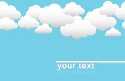 Fundo do vetor com nuvens Fotos de Stock Royalty Free