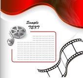 Fundo do vetor com película fotográfica Imagem de Stock