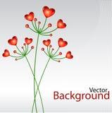 Fundo do vetor com plantas do coração ilustração royalty free