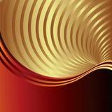 Fundo do vetor com raias douradas do redemoinho Fotos de Stock Royalty Free