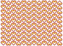 Fundo do vetor com teste padrão do coração Imagem de Stock