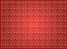 Fundo do vetor com teste padrão do coração Fotografia de Stock