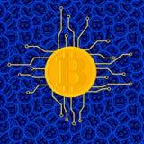 Fundo do vetor do conceito de Bitcoin Fotografia de Stock