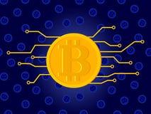 Fundo do vetor do conceito de Bitcoin Imagens de Stock Royalty Free