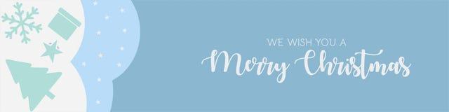 Fundo 2019 do vetor da bandeira do cartão de cumprimentos do Feliz Natal ilustração stock