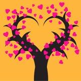 Fundo do vetor da forma do Valentim tree Imagem de Stock