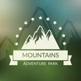 Fundo do vetor da paisagem da montanha outdoor ilustração do vetor