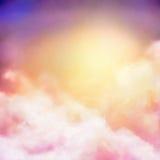 Fundo do vetor da pintura do céu do nascer do sol ilustração do vetor