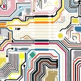 Fundo do vetor da placa de circuito Imagens de Stock