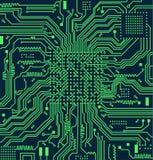 Fundo do vetor da placa de circuito eletrônico da alta tecnologia Foto de Stock