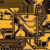 Fundo do vetor da placa de circuito eletrônico da alta tecnologia Imagens de Stock