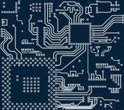 Fundo do vetor da placa de circuito eletrônico da alta tecnologia Fotografia de Stock Royalty Free