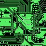 Fundo do vetor da placa de circuito eletrônico da alta tecnologia Fotos de Stock