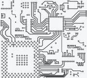 Fundo do vetor da placa de circuito eletrônico da alta tecnologia Foto de Stock Royalty Free
