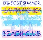 Fundo do vetor da praia do verão no estilo retro Imagens de Stock Royalty Free