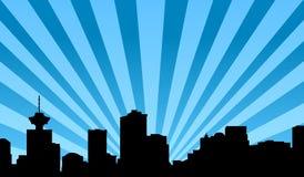 Fundo do vetor da skyline de Vancôver Imagens de Stock