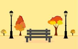 Fundo do vetor da Web Parque do outono ilustração do vetor