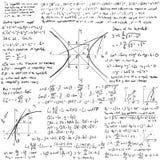 Fundo do vetor das matemáticas Fotos de Stock Royalty Free