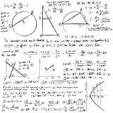 Fundo do vetor das matemáticas Imagens de Stock Royalty Free