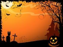 Fundo do vetor de Halloween Imagens de Stock