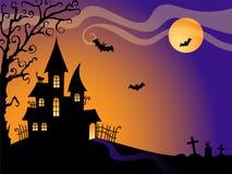 Fundo do vetor de Halloween Imagens de Stock Royalty Free
