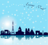 Fundo do vetor de Paris do Natal Imagens de Stock Royalty Free