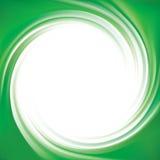 Fundo do vetor de redemoinhos verde-claro Imagem de Stock
