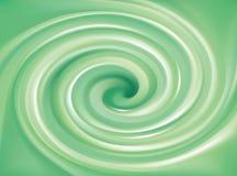 Fundo do vetor de redemoinhos verde-claro Fotografia de Stock