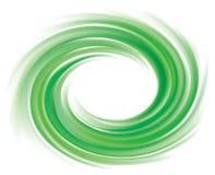 Fundo do vetor de redemoinhos verde-claro Imagens de Stock