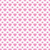 Fundo do vetor do dia do ` s do Valentim Teste padrão sem emenda dos ícones dos corações Textura repetida sumário Símbolos cor-de ilustração stock