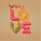 Fundo do vetor do amor Foto de Stock Royalty Free