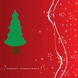 Fundo do vetor do applique da árvore de Natal. Foto de Stock Royalty Free