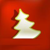 Fundo do vetor do applique da árvore de Natal. + EPS8 Fotos de Stock Royalty Free