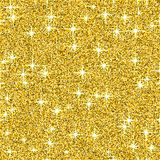 Fundo do vetor do brilho do brilho do ouro, teste padrão sem emenda do sumário amarelo da faísca, papel de parede de incandescênc Fotografia de Stock