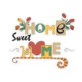 Fundo do vetor do estilo da decoração da casa e do jardim Imagens de Stock Royalty Free