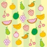 Fundo do vetor do fruto Imagem de Stock Royalty Free
