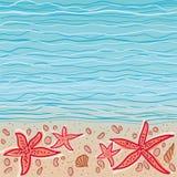Fundo do vetor do mar ilustração royalty free