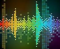 Fundo do vetor do mosaico colorido arco-íris Imagem de Stock