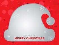Fundo do vetor do Natal, chapéu de Papai Noel Fotos de Stock