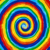 Fundo do vetor do redemoinho do sumário do arco-íris da arte Fotos de Stock Royalty Free