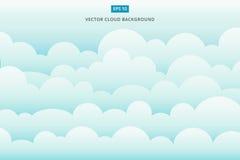 Fundo do vetor do scape da nuvem ilustração stock