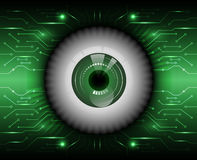 Fundo do vetor do sumário da segurança do olho Imagens de Stock