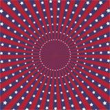 Fundo do vetor do sunburst da cor da bandeira americana Fotos de Stock