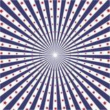 Fundo do vetor do sunburst da cor da bandeira de América Foto de Stock