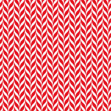 Fundo do vetor dos bastões de doces Teste padrão sem emenda do xmas com as listras vermelhas e brancas do bastão de doces Fotografia de Stock