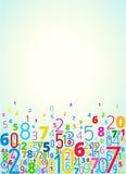 Fundo do vetor dos números ilustração stock